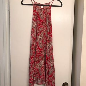 American Eagle Red Paisley Trapeze Dress size L/G